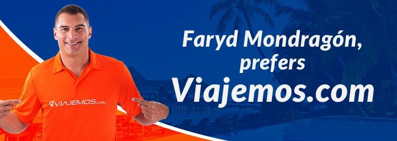 Faryd Mondragón prefers Viajemos.com