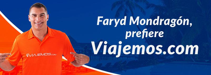 Faryd Mondragón prefiere Viajemos.com